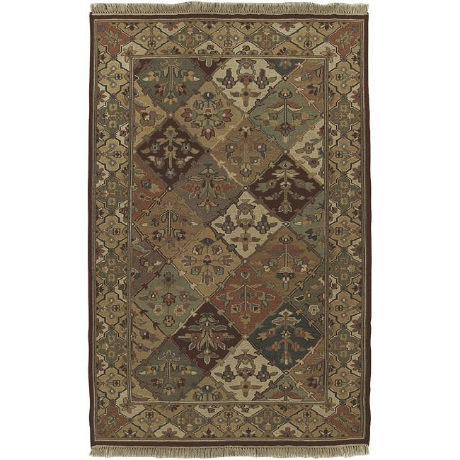 Hand-knotted Triumphant Wool Rug (9' x 12')