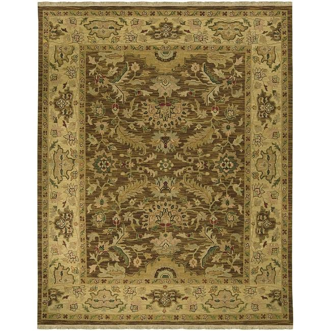 Hand-knotted Dapper Wool Rug (9' x 12')