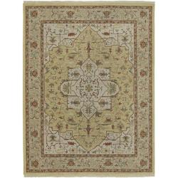 Hand-knotted Serpentine Wool Rug (10' x 14')