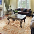 Hand-knotted Coventry Wool Rug (10' x 14')