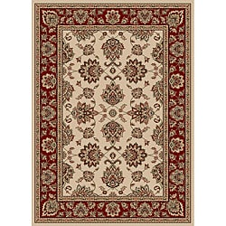 Virginia Ivory Traditional Area Rug (7'9