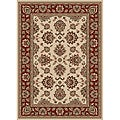 "Virginia Ivory Traditional Area Rug (7'9"" x 11')"