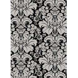 Brilliance Damask Olefin Area Rug (5'5