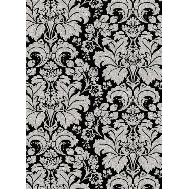 Brilliance Damask Olefin Area Rug (5'5 x 7'7)
