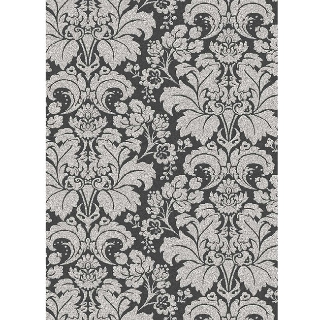 Traditional Brilliance Damask Area Rug (5'5 x 7'7)