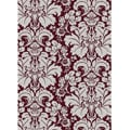 "Brilliance Burgundy/Silver Damask Area Rug (3'3"" x 4'11"")"