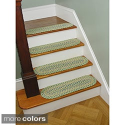Tropical Delight Set of 4 Reversible Stair Treads (0.75' x 2.4')