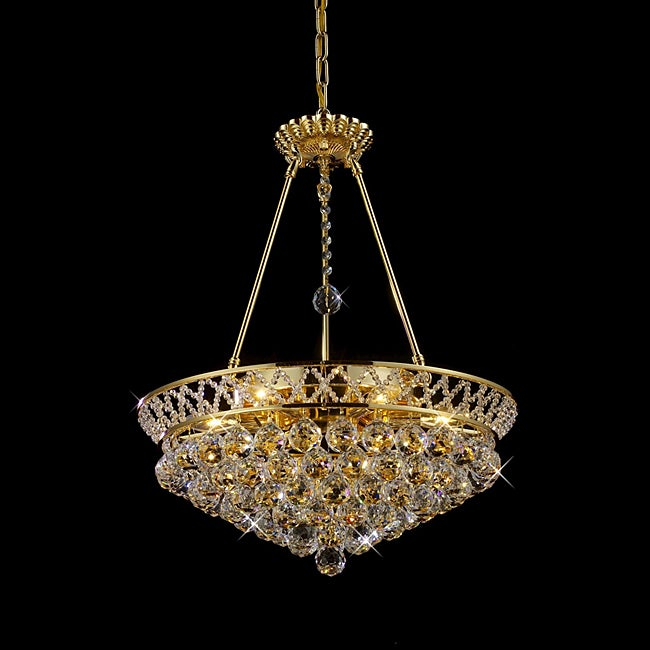Flush Mount or Hanging Crystal Chandelier