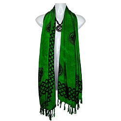 Emerald Green Celtic Interlaced Knot Work Half Sarong (Indonesia)