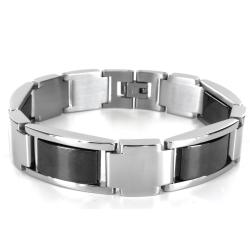 Two-tone Stainless Steel Magnetic Link Bracelet