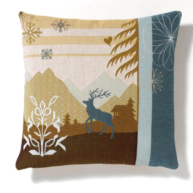 Corona Decor Modern Jacquard-Woven Feather and Down Fill Outdoor-Design Decorative Throw Pillow