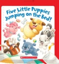 Five Little Puppies Jumping on the Bed (Board book)