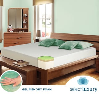 Select Luxury Swirl Gel Memory Foam 10-inch Full-size Medium Firm Mattress