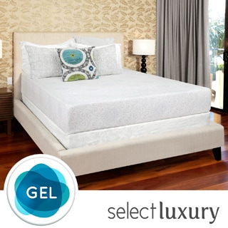 Select Luxury Swirl Gel Memory Foam 10-inch Twin-size Medium Firm Mattress