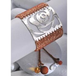Mishky Sterling Silver Rose Bracelet (Colombia)