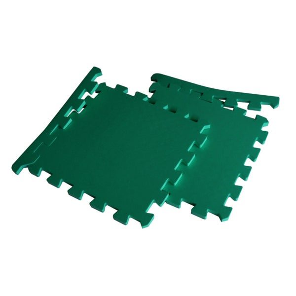 TNT Foam Gym Floor Green Exercise Mats (Case of 48)