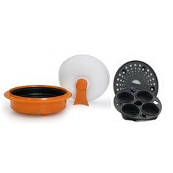 Microhearth Orange 1.5-quart Covered Nonstick 4-piece Everyday Pan Set