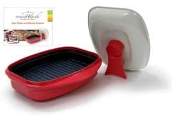 Microhearth G03RS2 Red Microwaveable Grill Pan