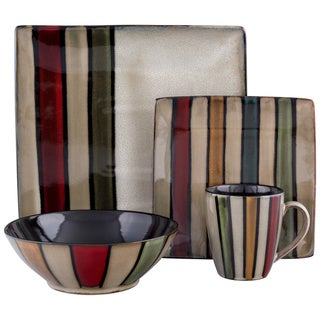Sango Vertigo Striped 16-pc Dinnerware Set