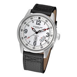 Stuhrling Original Tuskegee Skymaster Men's Automatic Leather Strap Watch