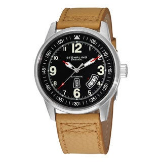 Stuhrling Original Tuskegee Skymaster Men's Automatic Water-Resistant Leather Strap Watch