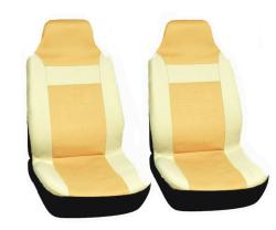 Integrated Bucket Solid Tan Seat Covers