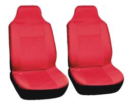 Integrated Bucket Sports Red Seat Covers
