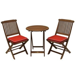 Seat Cushion and 3-piece Round Bistro Set
