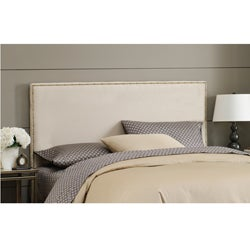 Wrightwood Oatmeal Microsuede Full-size Nail Button Headboard