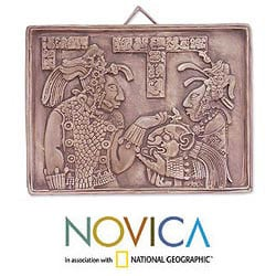 Ceramic 'Maya Ruler and Wife' Wall Plaque (Mexico)