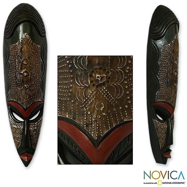 Sese Wood 'Sande Woman' Africa Mask (Ghana)