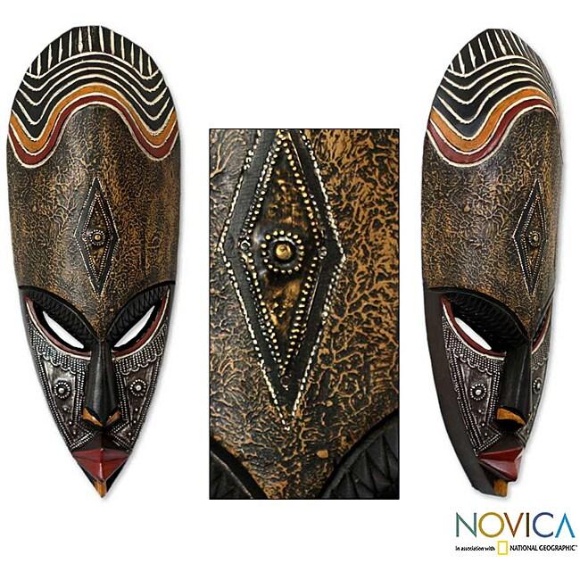 Sese Wood 'Frightening' African Mask (Ghana)