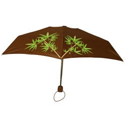 Leighton 41-inch Brown Bamboo Branch Compact Umbrella