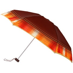 Leighton 41-inch Brown/ Orange Border Compact Umbrella
