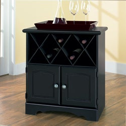 New Visions by Lane Manor Hill Black Wine Cabinet