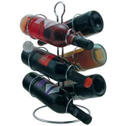 Tabletop and Shelf-style Chrome-finish Metal Wine Racks (Set of Two)