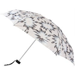 Leighton 41-inch White Raindrop Polyester/Aluminum Compact Umbrella