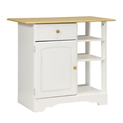 New Visions by Lane Kitchen Essentials White/Maple Kitchen Island