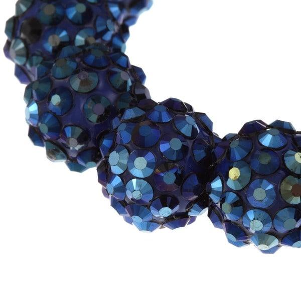 Blue Crystal Ball Stretch Bracelet