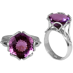 Sterling Silver Faceted Amethyst Ring (Indonesia)