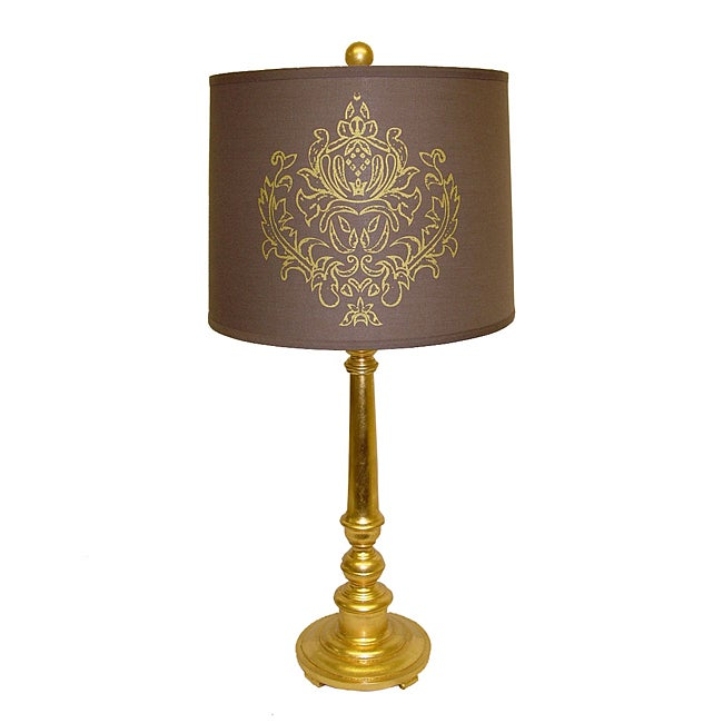 Gold Resin Indian Emblem Lamp