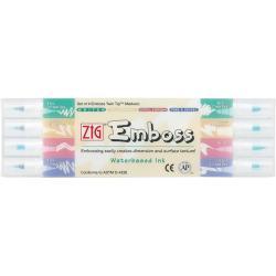 Zig Emboss Twin-tip Marker Assortment (Pack of 4)