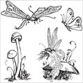 Graphic 45 'Once Upon A Springtime' Cling Stamps