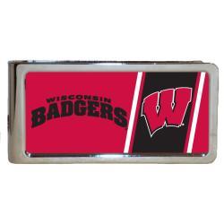 Wisconsin Badgers Stainless Steel Money Clip