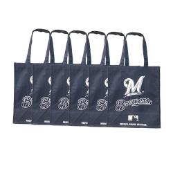 Milwaukee Brewers Reusable Bags (Pack of 6)