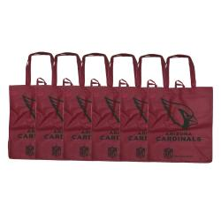 Arizona Cardinals Reusable Bags (Pack of 6)