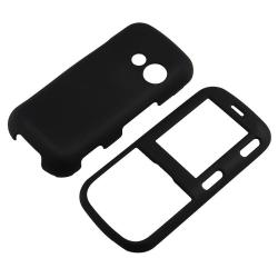 INSTEN Black Phone Case Cover/ Screen Protector for LG Cosmos VN250/ Rumor 2 LX265