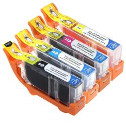 Canon Compatible CLI-221 CMYK Black/ Color Ink Cartridge (Pack of 4)