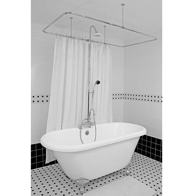 Spa Collection 67-inch Double-ended Clawfoot Tub and Shower Pack