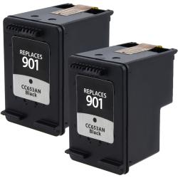 HP 901 Black Ink Cartridge (Remanufactured) (Pack of 2)